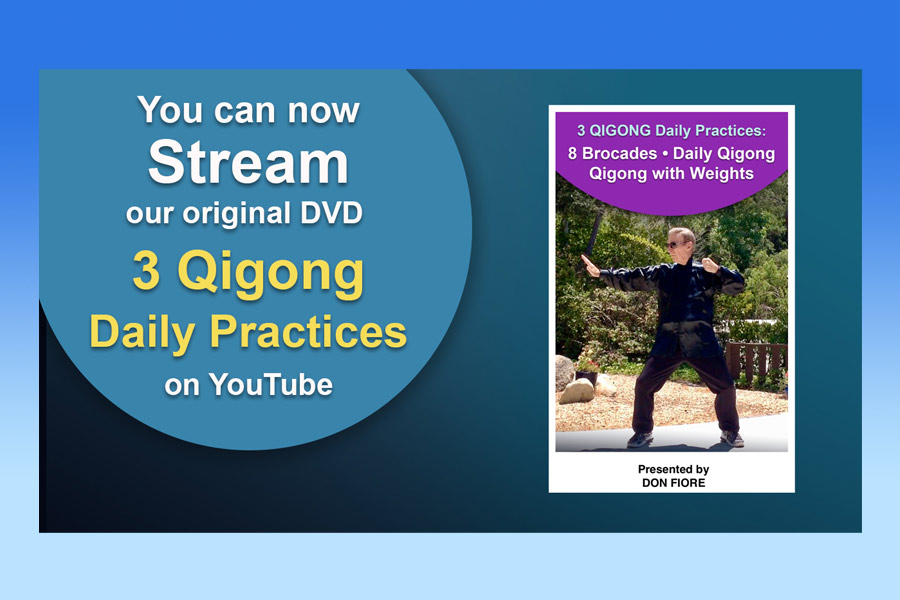 YouTube Streaming – 3 Qigong Daily Practices